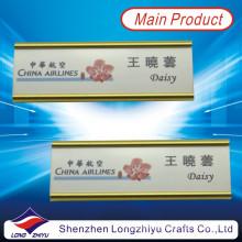 Versenkbarer Aluminium-Gold-oxidierender Typenschild-Halter