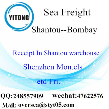 Shantou Port LCL Consolidation To Bombay