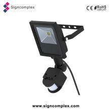 Projector exterior do diodo emissor de luz com PIR, luz impermeável do sensor do diodo emissor de luz de 10W 20W 30W 50W 80W 100W