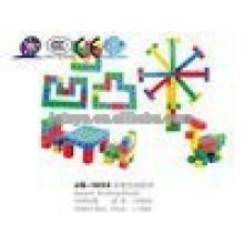 JQ1055 Niños preescolares educativos de plástico cuadrado puzzle bloque de juguete