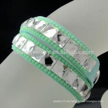 2016 Nueva pulsera cristalina de la manera del diamante del diseño especial para las muchachas BCR-020-8