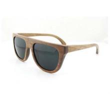 Noz de madeira natural personalizado de madeira por atacado de madeira ou bambu óculos de sol de alta qualidade