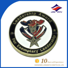 Very cool design leadership award enamel coin by China manufacturer