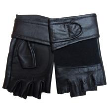 Luvas de esportes de couro de pele de carneiro sem dedos homens moda (yky5019)