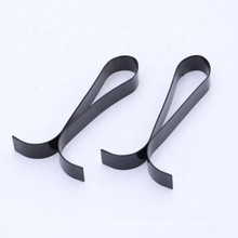 Customized stamping process flat spring steel black painting stainless steel clips