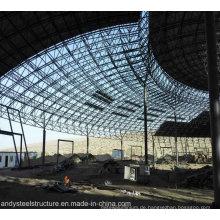 Leichte Stahlkonstruktion Raumrahmendachung mit großer Spanne für Wasserpark