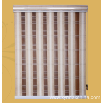 Vertical day and night blinds