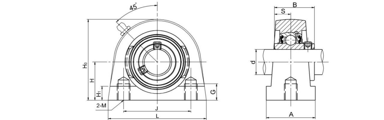Bearing Housing Units UCPG200 Series