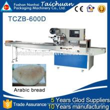 TCZB600 Completo equipamento de padaria em aço automático arábico pão máquina de fluxo de embalagem