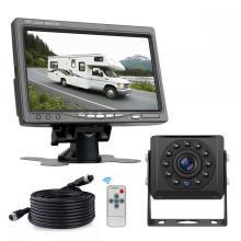 Monitor LCD reversível com câmera de backup para caminhão