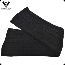 High Quality 30%Wool 70%Acrylic Cable Knitted Scarf