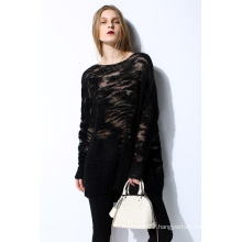 Fashion Mohair Loose Soft Ladies Knit Pullover Sweater