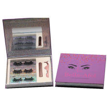 ME34H Hitomi High Quality 3d Mink Lash soft natural mink eyelashes Fluffy 25mm Magnetic Eyelashes with Eyeliner and tweezers