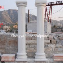 White Carrara mármore pedra escultura coluna (SY-C006)