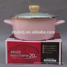 pink strait pot Enamelware cookware in2015 hot sales pink strait pot Enamelware cookware in2015 hot sales