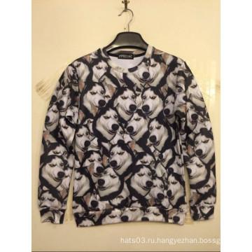 Рубашка с трехсторонней печатью Allover Huskie
