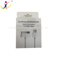 Taille adaptée aux besoins du client! Usine directement vente boîte d'emballage de papier USB et boîtes de fil de données