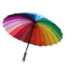 Manueller offener bunter Straight Rainbow Regenschirm (BD-17)