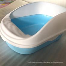 Toilette colorée de boîte à litière pour chat