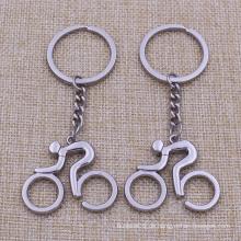 Kundenspezifische billige Mini-Geschenke Metall Fahrrad Schlüsselbund für Verkauf