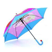 Gerade Karton drucken Kinder Regenschirm