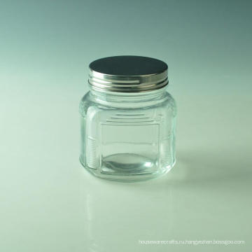 Квадратный стеклянный Опарник свечки для домашнего украшения