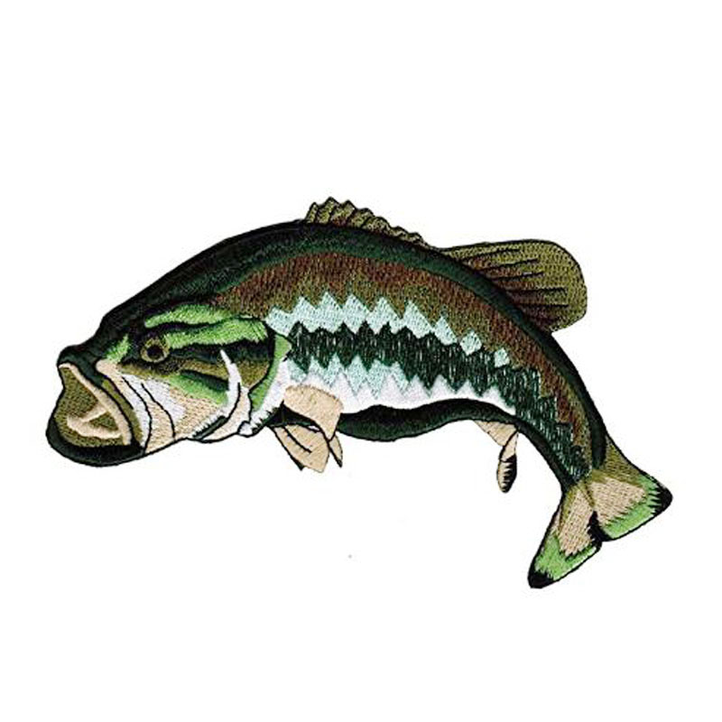 Bass Fish Patch Embroidered