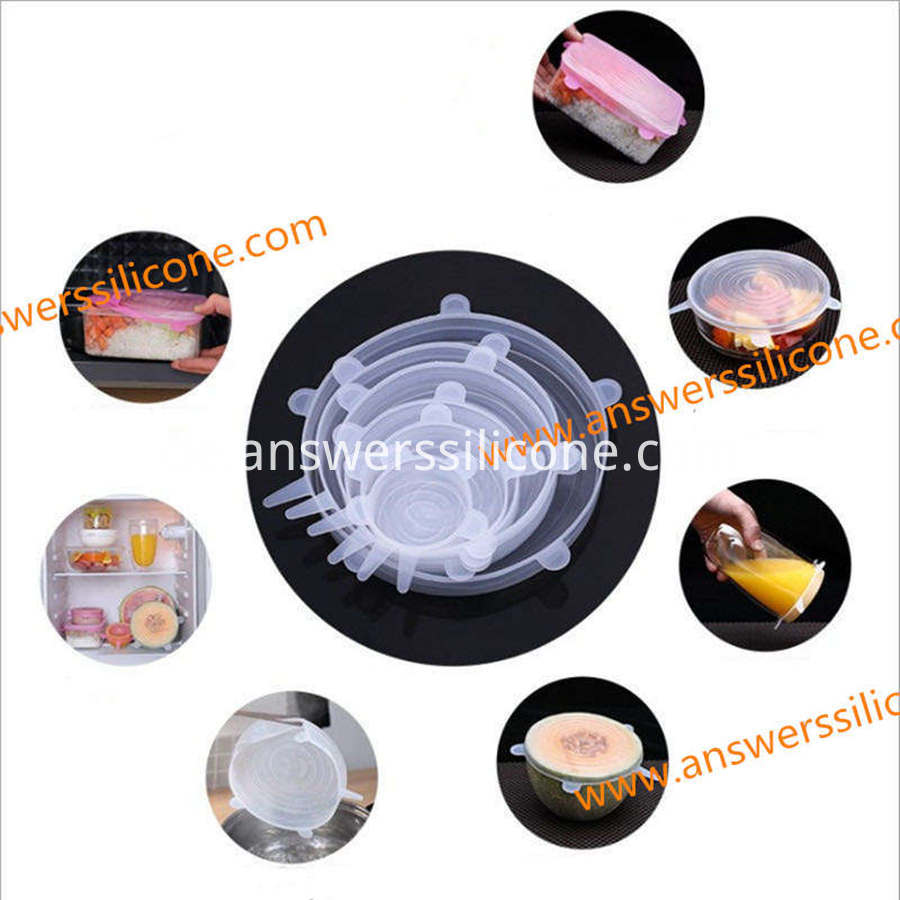 expandable silicone stretch lids