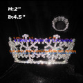 Full Round Crystal Snowflake Crowns Christmas Crowns