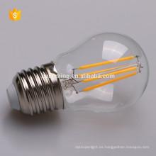 proveedores de China nuevos productos E27 filamento led iluminación g45 bombilla ce rohs en la lista