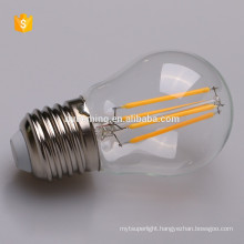 china suppliers new products E27 filament led lighting g45 light bulb ce rohs listed