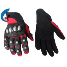 Motorrad Handschuh aus Syn Leder Stoff PVC Echtes Leder