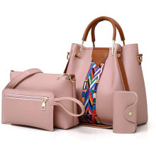 2021 Wholesale 4 Pack Women Handbag Set Soft PU Leather Top Handle Bags Set Shoulder Bags Crossbody Bag Wallet Purse