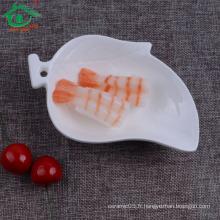 Taobao Forme populaire en forme de mangue Céramique Plat blanc Platres en porcelaine