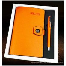 Cuir d'imitation fait sur commande de carnet, carnet d'affaires d'unité centrale pour des cadeaux
