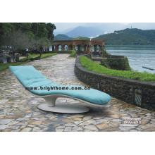 Spezielle Design Sun Bed Lounge Wicker Rattan Outdoor Möbel