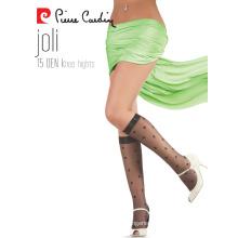 Pierre Cardin OEM Women's 15 Denier Elegant Polka-Dots Patterned Knee High Socks 3 Colors