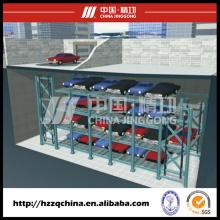 Stationnement automatisé professionnel d'ascenseur de voiture avec le système rotatoire de circulation