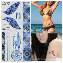 Tatouages temporaires en gros OEM Tatouages colorés Design de mode tatouage pour filles V4627