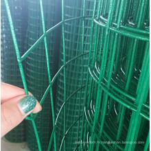 Treillis métallique soudé par PVC vert