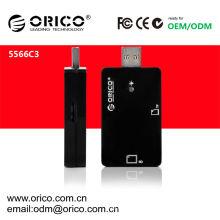 O cartão ORICO 5566C3 é lido para usb 3.0 hub & 2.1 & 1.1 ter CE & FCC aprovar
