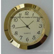 Promotional Analog Quartz Small Metal Insert Clock Golden Mini Clocks