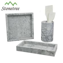 Plateau de rangement en pierre 100% naturelle Plateau de table en marbre
