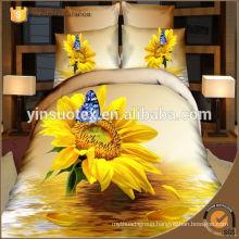Sunflower Wholesale 3D bedding set,polyester bedding set