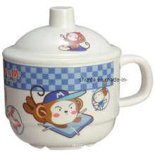 100%Melamine Tableware- Kid′s Mug W/ Cover/Melamine Dinnerware (BG633S)