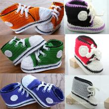 Bébé garçon crochet tricoté chaussures décontractées laine faite main