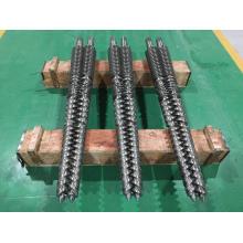 Parafuso duplo cônico e cilindro para máquina extrusora
