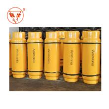 Cilindro de amoníaco líquido puro de gas de amoníaco