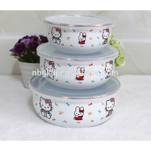 special decal kitchenware Chinese enamel ice bowl