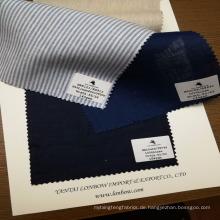 bereit für Lager Garn gefärbt 100% Leinen Shirt Stoff Hemdenstoffe